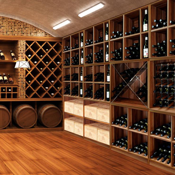 Projekty,  Piwnica win zaprojektowane przez Weinregal-Profi