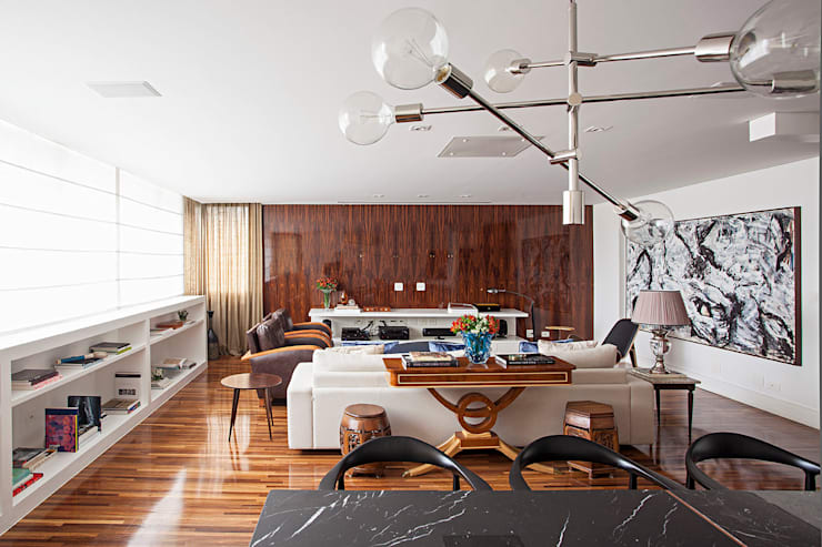Projeto: Salas de estar  por BJG Decorações de Interiores Ltda