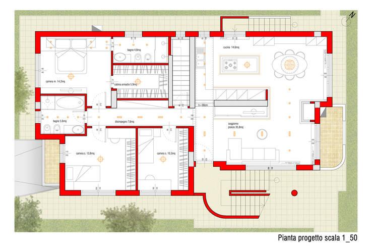 Interno S+F:  in stile  di Danilo Drudi Architetto