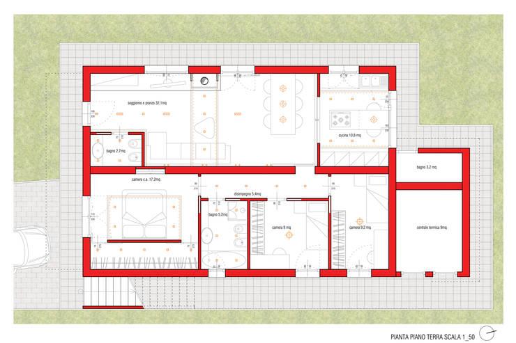 Interno M:  in stile  di Danilo Drudi Architetto