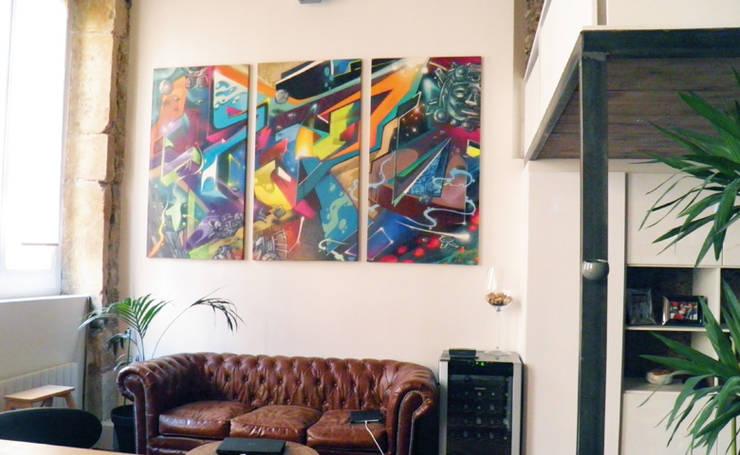 Sala de estar  por Popek décoration