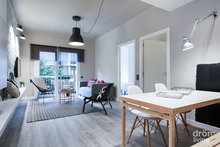 scandinavian Living room by Dröm Living