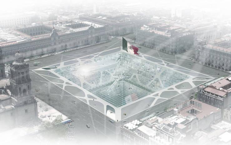 Zocalo :  de estilo  por BNKR Arquitectura