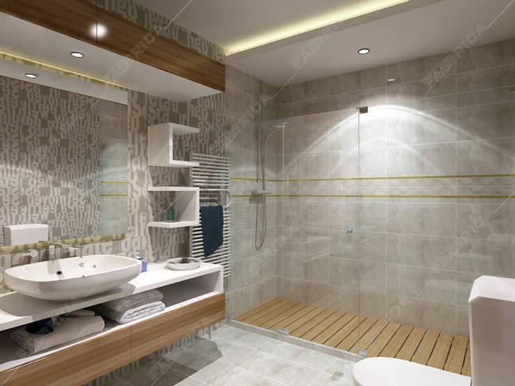 moderne Badkamer door Fabbrica Mobilya