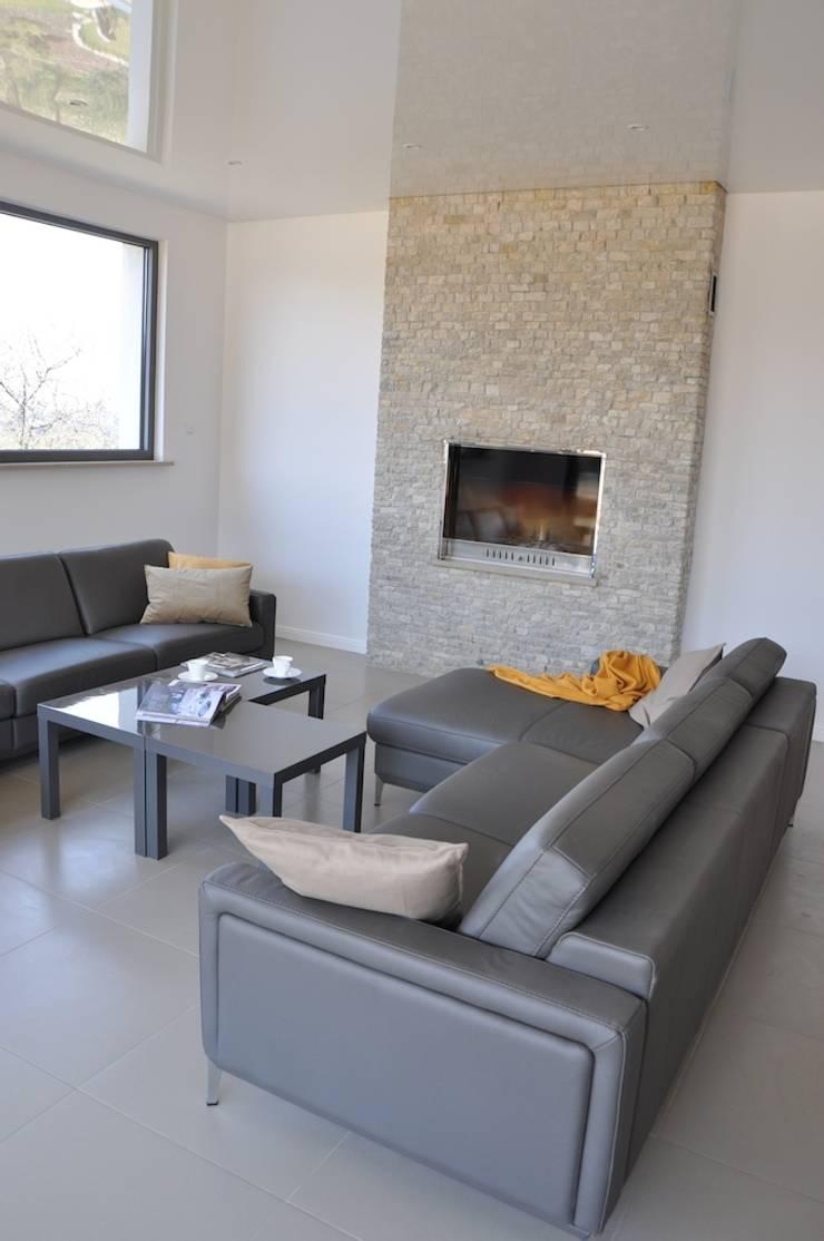 Dom D&J: styl , w kategorii Salon zaprojektowany przez Pracownia Projektowa Ola Fredowicz