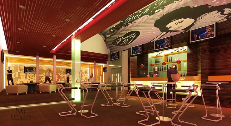 Sitio: Bares y discotecas de estilo  por NGestudio, Moderno