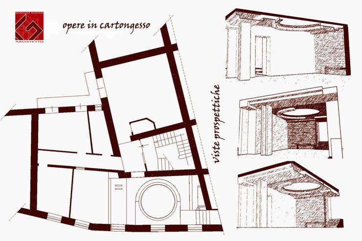 UN INSERTO CONTEMPORANEO: Soggiorno in stile  di GIOIA Biagio ARCHITETTO, Moderno