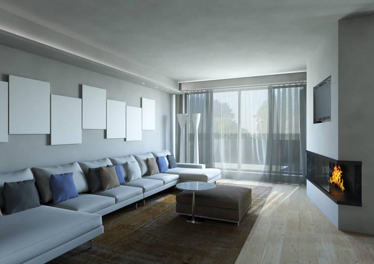 Milano 2 - Residenza Orione: Soggiorno in stile  di Architetto ANTONIO ZARDONI