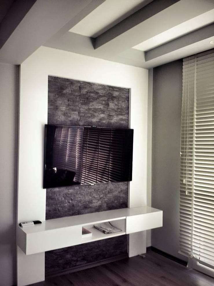 Fatma Gürçam İçmekan Tasarım ve Uygulama – tatıl evi: akdeniz tarzı tarz Oturma Odası