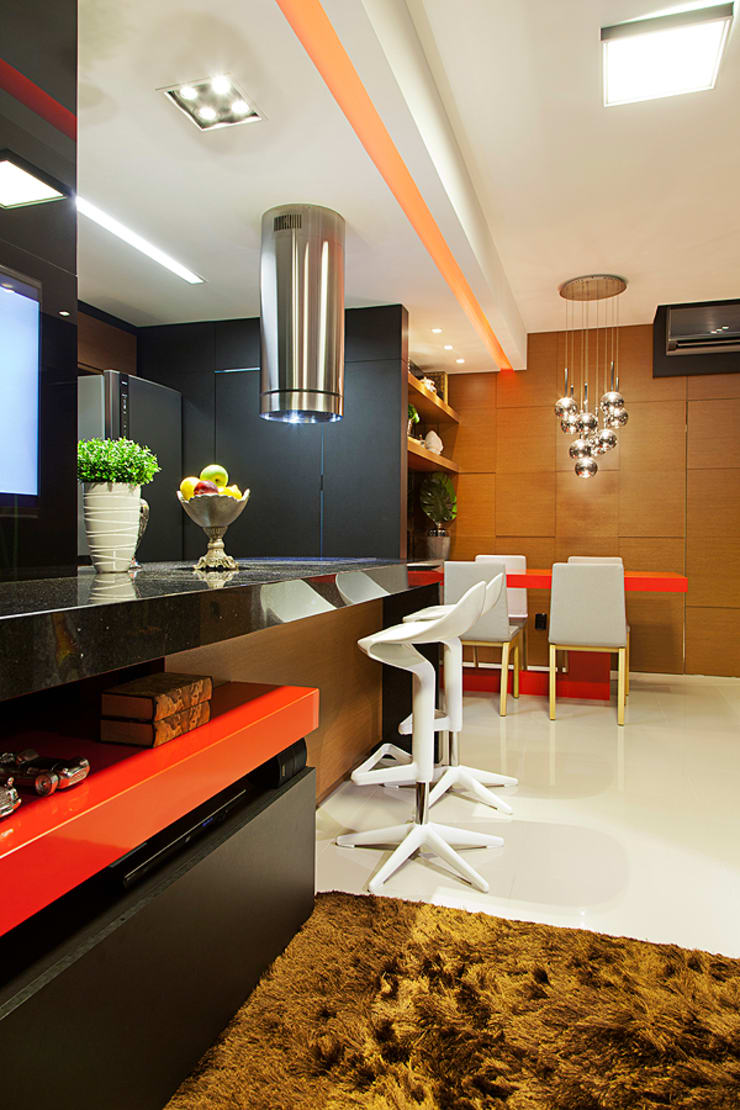 Estar integrado: Salas de estar  por AL11 ARQUITETURA