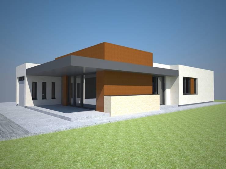 VIVIENDA UNIFAMILIAR: Casas de estilo  de delamano y hernandez arquitectos