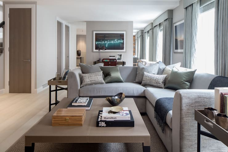 Eaton Mews North - Living Room: modern Living room by Roselind Wilson Design
