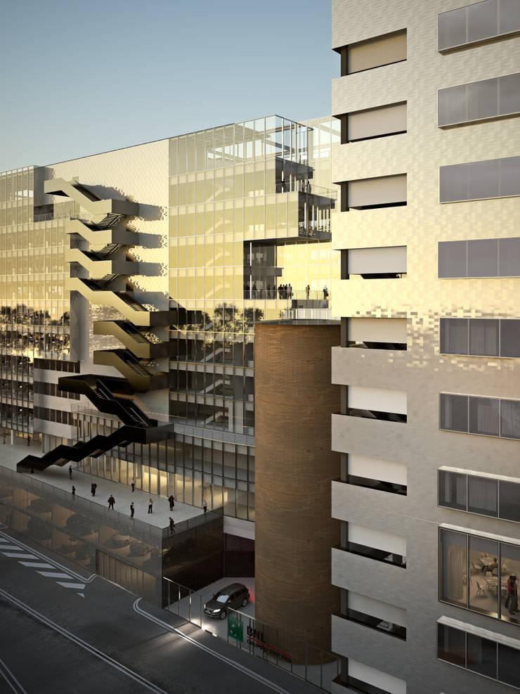 Nouveau siège social de BNL-BNP Paribas à Rome: Bureaux de style  par 5+1AA alfonso femia gianluca peluffo