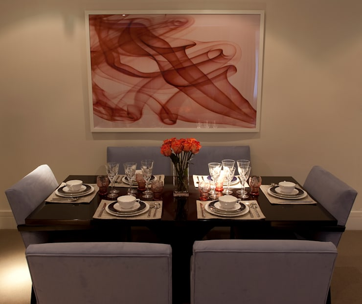 Dining Area:  Dining room by Roselind Wilson Design