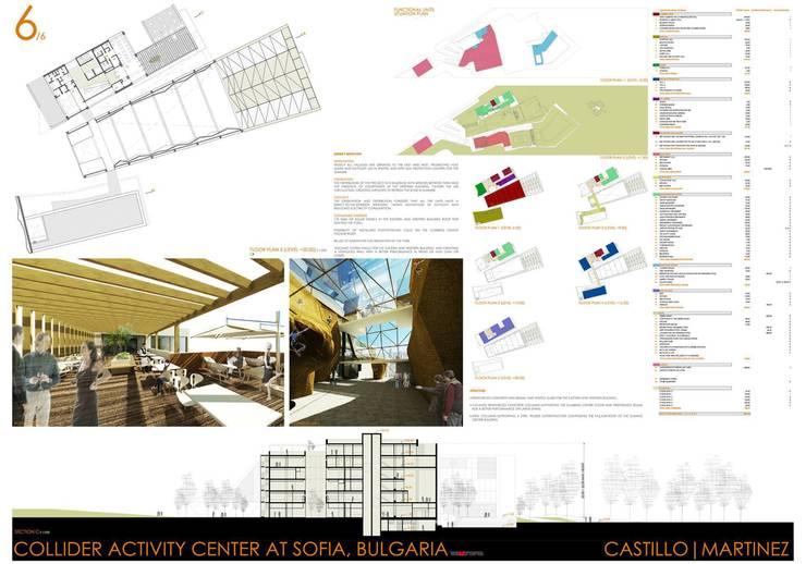 COLLIDER ACTIVITY CENTER COMPETITION: Palestra in stile  di Castillo|martinez,