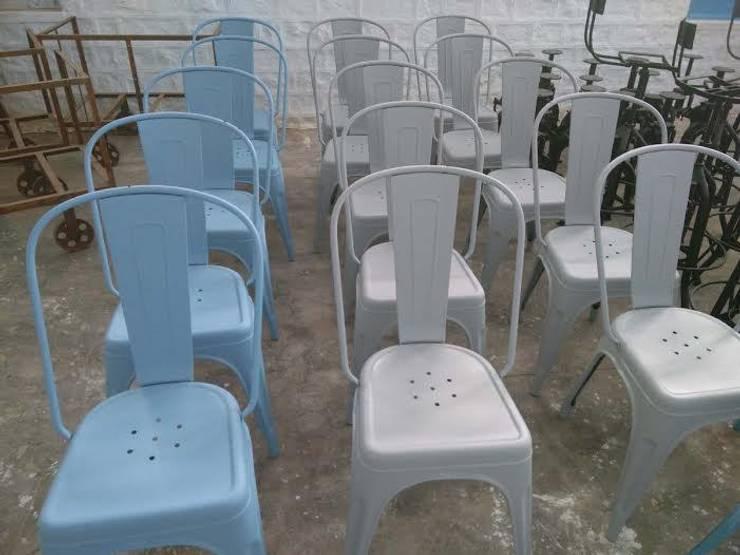 Tolix chair:  Dining room by Vinayak Art Inc.