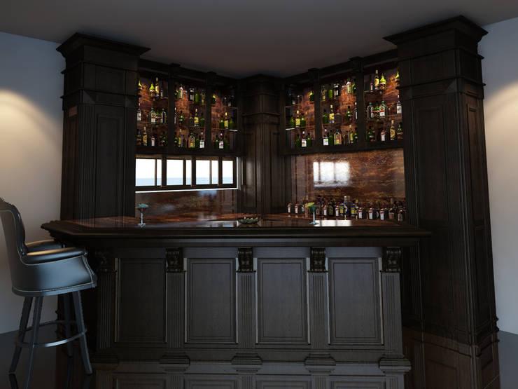 Bar:  de estilo  por Raíz Arquitectura, Clásico