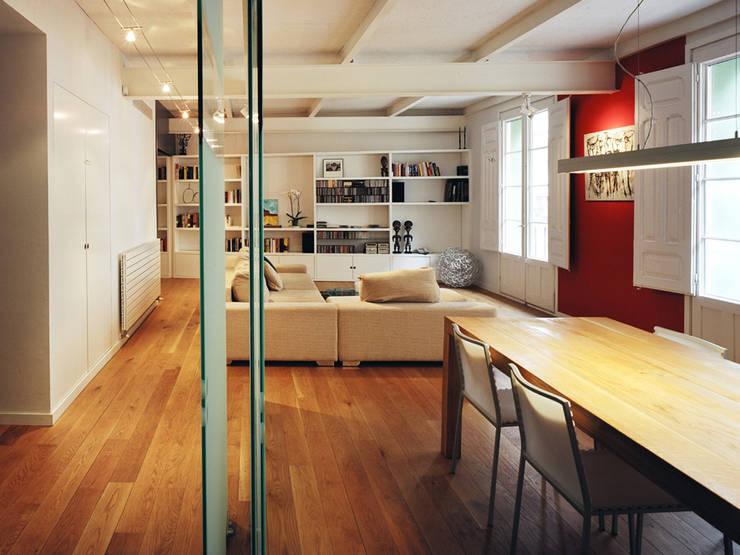 Apartamento LB. Zaragoza: Salones de estilo  de MAGEN ARQUITECTOS