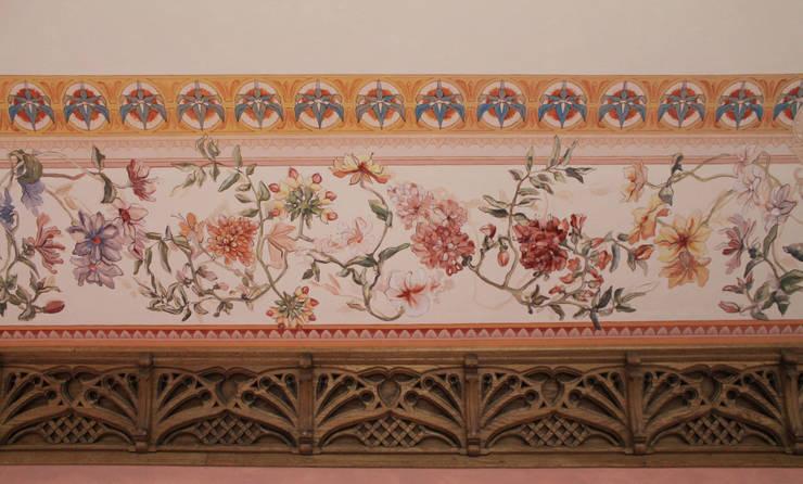 salon : styl , w kategorii Ściany zaprojektowany przez szaro-biało