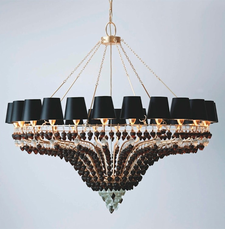 Lámpara de Techo Mazara 24 Luces: Salones de estilo  de Paco Escrivá Muebles
