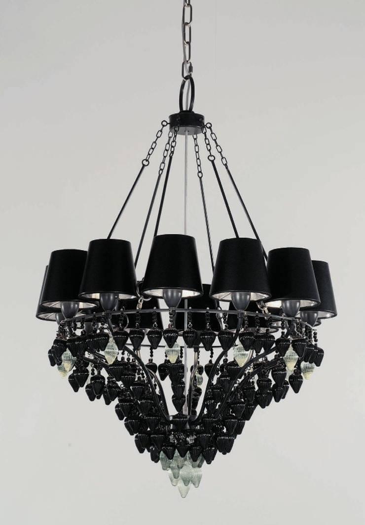 Lámpara de Techo Ribera 12 Luces: Salones de estilo  de Paco Escrivá Muebles