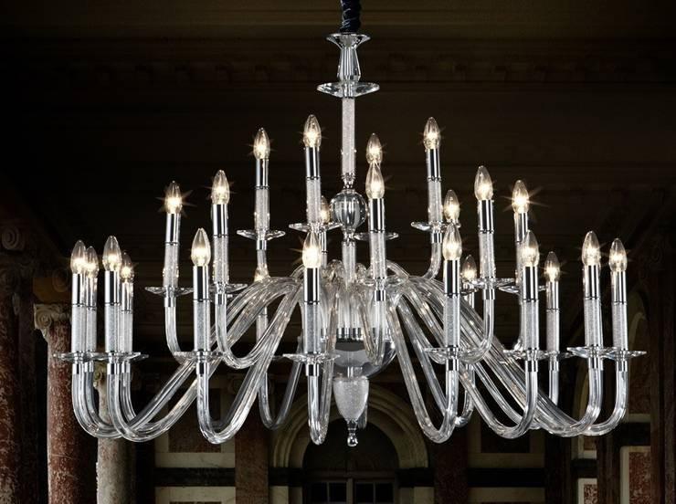 Lámpara de Cristal Stelas: Salones de estilo  de Paco Escrivá Muebles