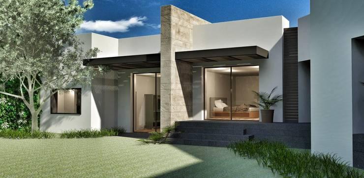 Casa Lomas Hipódromo: Recámaras de estilo  por REM Arquitectos