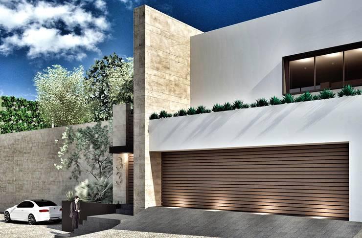 Casa Lomas Hipódromo: Casas de estilo  por REM Arquitectos
