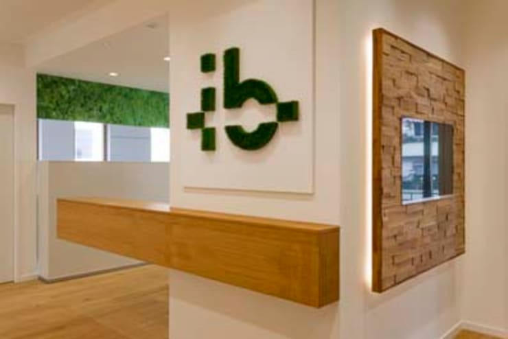 Firmen-Logo aus echtem Gras:  Bürogebäude von armbruster innenarchitektur,