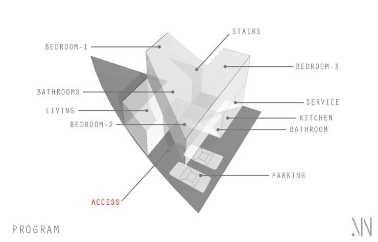 casa Lv-Z:  de estilo  por NonWarp