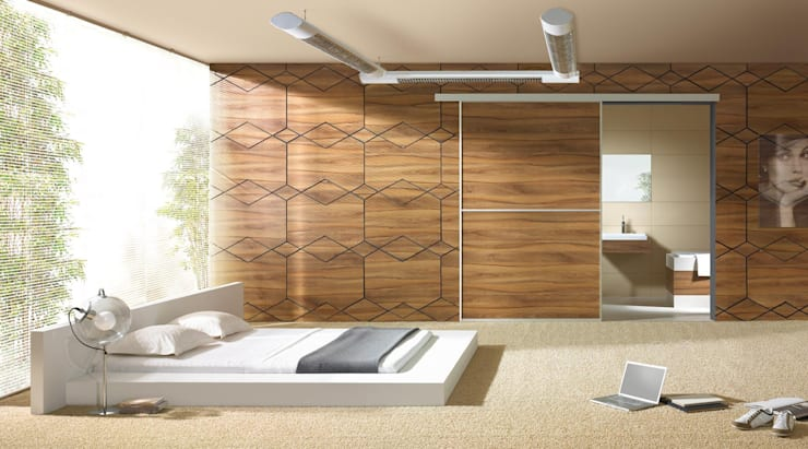 moderne Slaapkamer door Sliding Wardrobes World Ltd