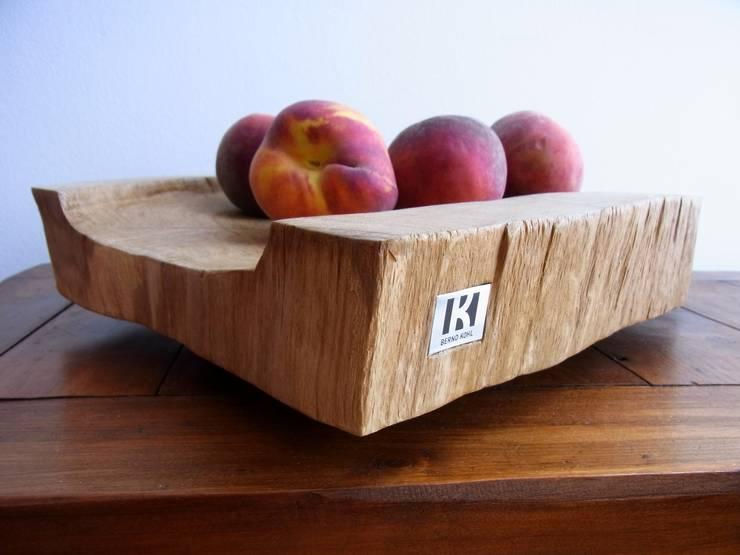 edle Holzschale aus Eichenvollholz - handgemacht:  Küche von bernd kohl - objekte in holz und stahl