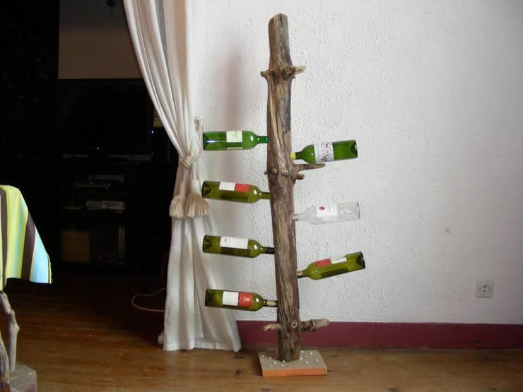 décoration en bois flotté: Salon de style de style eclectique par Bois flotté de Gibus