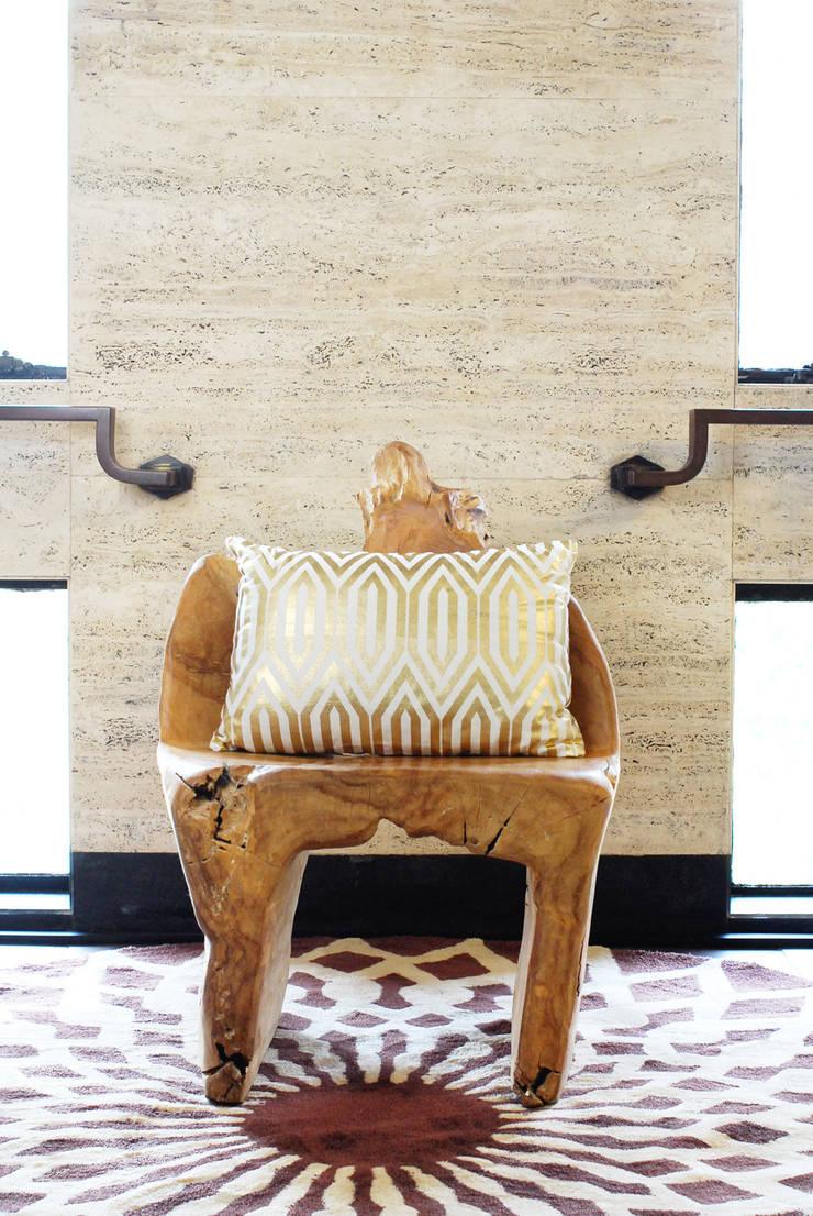 Gold Diamond Pillow: modern  by Kara Fabric, Modern