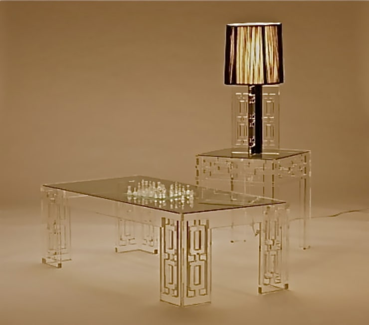Oriental Acrylic Dining Set:   by A.Luxe & Co.,