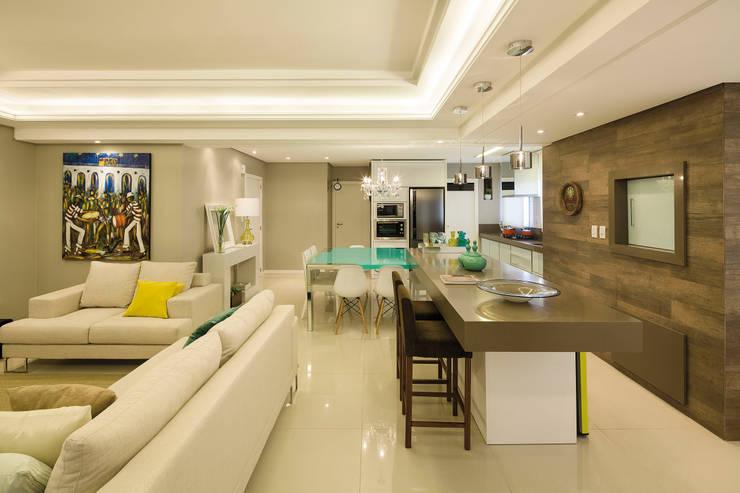 Ilha Salas de jantar modernas por AL11 ARQUITETURA Moderno