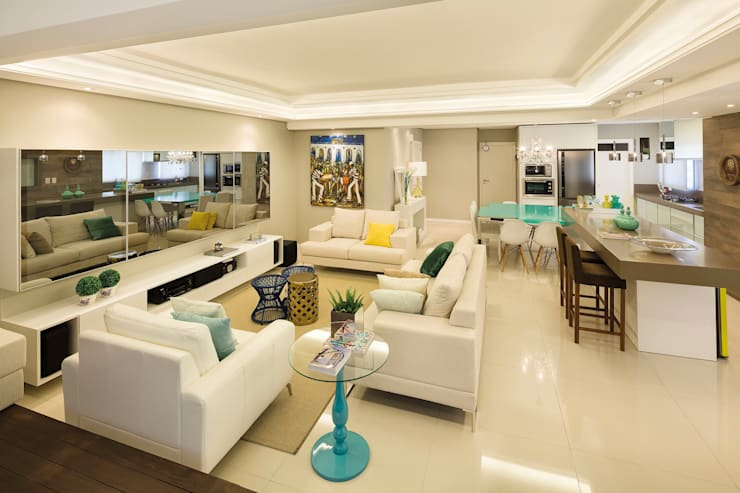 Sala de estar: Salas de estar  por AL11 ARQUITETURA