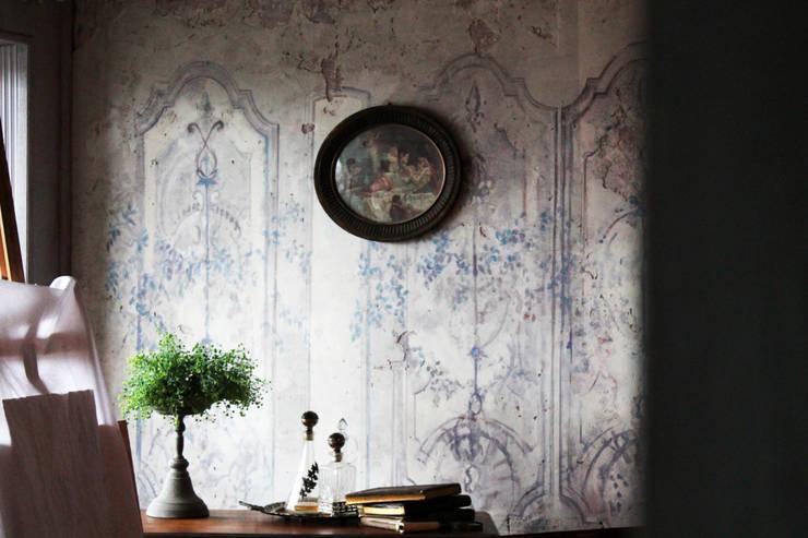 jasne wnętrze : styl , w kategorii Ściany zaprojektowany przez szaro-biało,Klasyczny