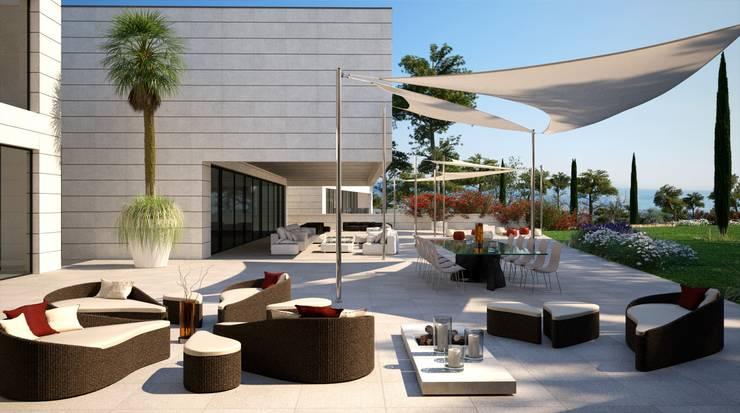 Proyecto 3D: Terrazas de estilo  de Realistic-design