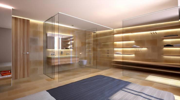 Projekty,  Łazienka zaprojektowane przez Realistic-design