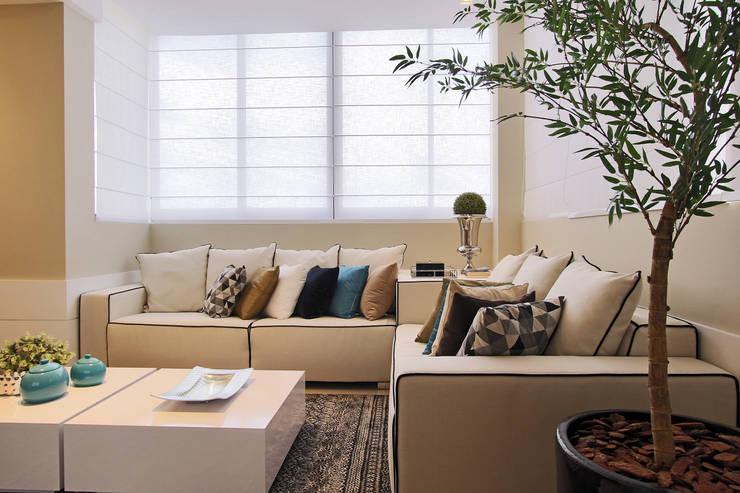 Estar churrasqueira: Salas de estar modernas por AL11 ARQUITETURA