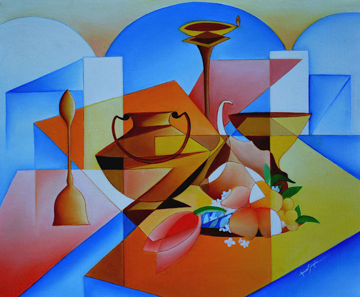 Arrangement of worship:  Artwork by Self employed artist
