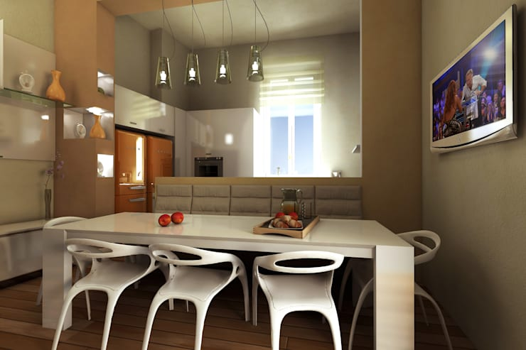 Virtual Home Staging Cucina :  in stile  di AAA Architettura e Design, Moderno