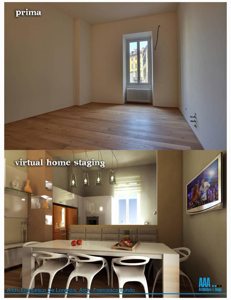 prima e dopo :  in stile  di AAA Architettura e Design, Moderno