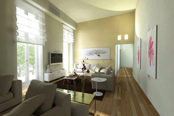 Virtual Home Staging Soggiorno : Soggiorno in stile  di AAA Architettura e Design, Moderno
