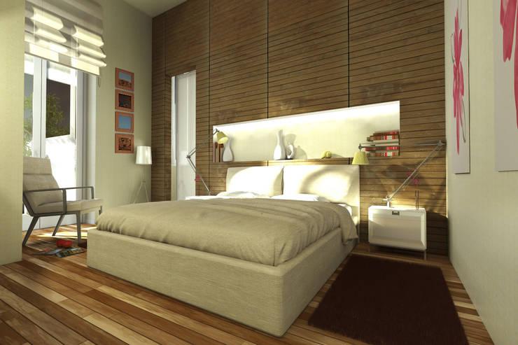 Virtual Home Staging Camera da Letto : Camera da letto in stile  di AAA Architettura e Design, Moderno