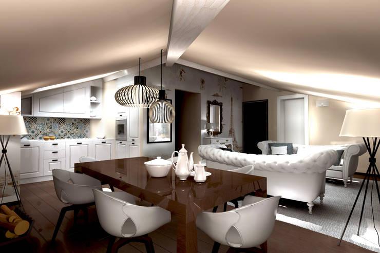 Progettazione d'Interni : Soggiorno in stile  di AAA Architettura e Design