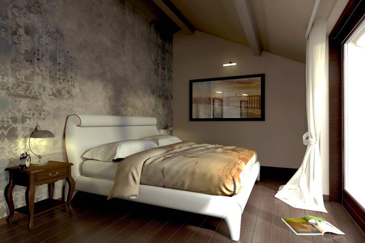Progettazione d'Interni : Camera da letto in stile  di AAA Architettura e Design