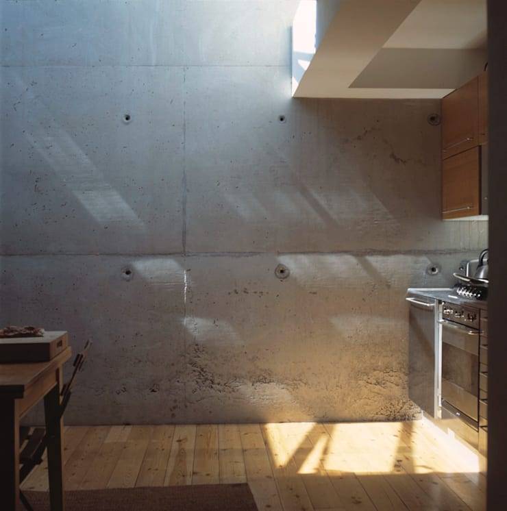 Hillside Houses, Montpelier:  Kitchen by Emmett Russell Architects