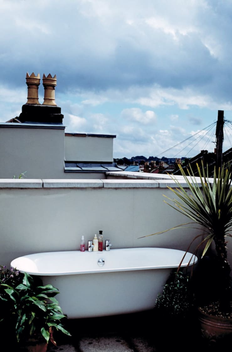 Hillside Houses, Montpelier:  Terrace by Emmett Russell Architects